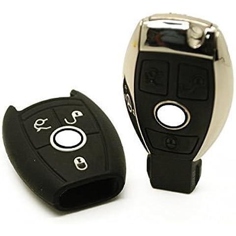 Funda silicona para llave - Mercedes-Benz (Negro)