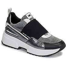 MICHAEL KORS Cosmo Slip On Metallic Mesh 43R9CSFP2D Silver Zapato Mujer Sneakers