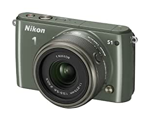 Nikon 1 S1 Appareil photo hybride 10,1 Mpix + Objectif 1 Nikkor 11-27,5 mm Kaki