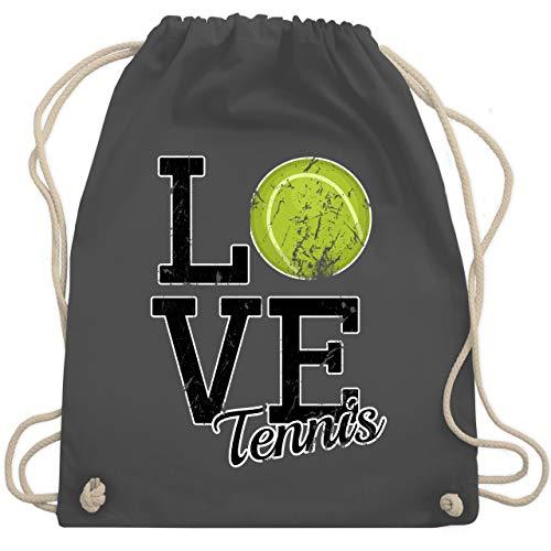 Shirtracer Tennis - Love Tennis - Unisize - Dunkelgrau - WM110 - Turnbeutel und Stoffbeutel aus Bio-Baumwolle