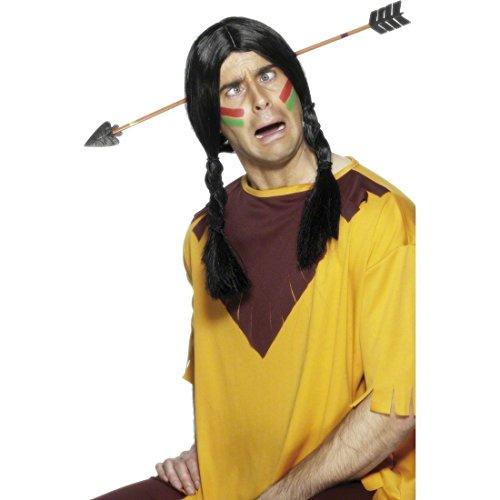 Pfeil durch den Kopf Haareif Indianer Accessoire Indianerschmuck Scherzartikel Haarreifen Kostüm Zubehör