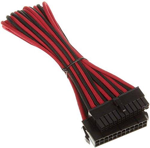BitFenix 24-Pin 30cm rot ATX Verlängerung für ATX Pin (BFA-MSC-24ATX45RKK-RP), BFA-MSC-24ATX45RKK-RP 2 Gauge-jumper-kabel
