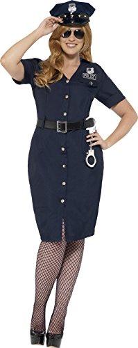 (Smiffys 24451X1 - Damen NYC Polizistin Kostüm, Größe: 48-50, Blau)