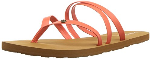 Volcom Women's Easy Breezy Jesus Thong Synthetic Leather Flat Sandal, Parent