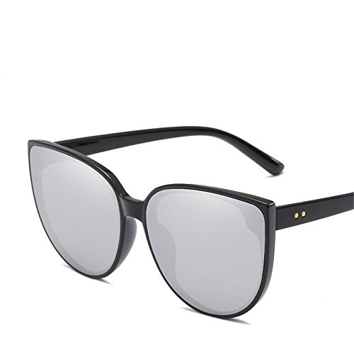RFVBNM Mode Sonnenbrillen Europa und den Vereinigten Staaten Trend Unisex Sonnenbrille Marine dekorative Gläser, B