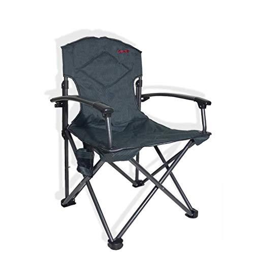 Wuzhengzhijia Außen Klappstuhl Aluminiumlegierung Rückenlehne Sessel, tragbare Angeln Camping Picknick Liegestuhl, Keine Installation erforderlich