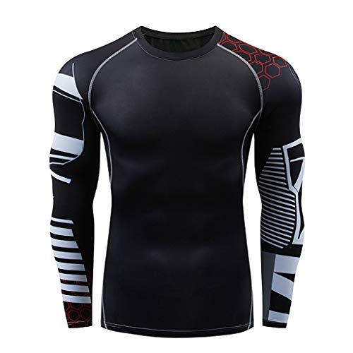 Anney Herren Trainingsanzug Casual Fitness T-Shirt Schnell trocknende elastische Oberteile + Sport Hosen Sport Funktionswäsche Set Outdoor Radsport Sport Anzug