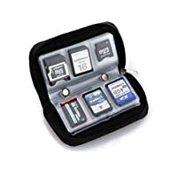 Memory Card Carrying Case - Suitable for SDHC and SD MicroSD CF MS XD Cards - 8 Pages and 22 Slots, idea for Canon EOS 4000D, 2000D 1300D 1200D,200D,100D 800D 750,80D 70D,7D, SX60, Nikon D3400 D3200,D3300,D7200,D5300,D5200,D5500,D5600 ,FUJI FinePix OLYMPUS Pentax Panasonic Sony Camera and DSLR, GoPro Hero 3 3+ 4 5