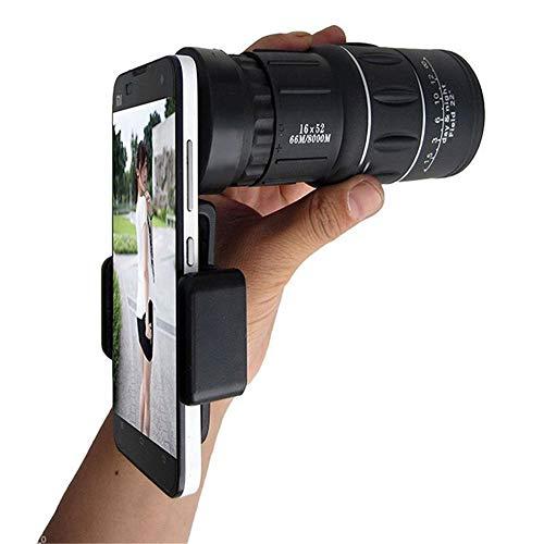 XFWY Professionelle Dual-Fokus 16x52 HD NachtsichtgeräT Mit Handy-Halter FüR Outdoor-Optik-Objektiv Teleskop - Dual-nachtsichtgerät