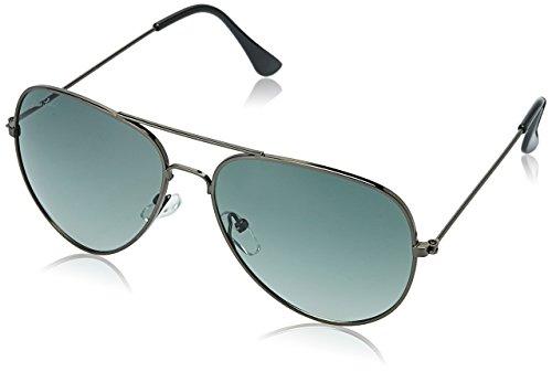 LOUIS SMIT Polarized Aviator Men\'s Sunglasses - (LS101 C8|58|Green Color)