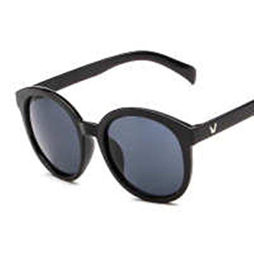 V Neue Koreanische Wort Runden Rahmen Sonnenbrille Retro-Mode-Marke Farbfilm Frau Große Kasten-Sonnenbrille Großhandel