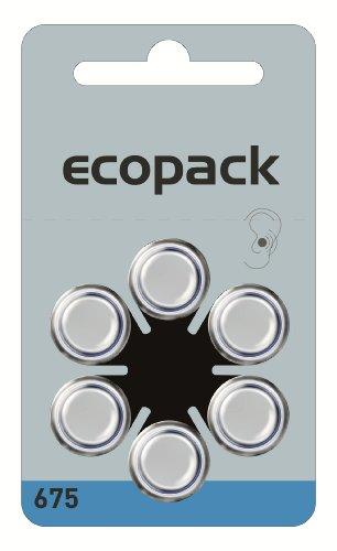 Varta Hörgeräte-batterien (60 Stück Varta Ecopack ZA 675 Hörgerätebatterie - 650 mAh 1,4 V)