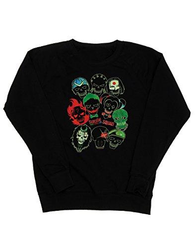 Suicide Squad Femme Band of Skulls Sweat-Shirt Noir