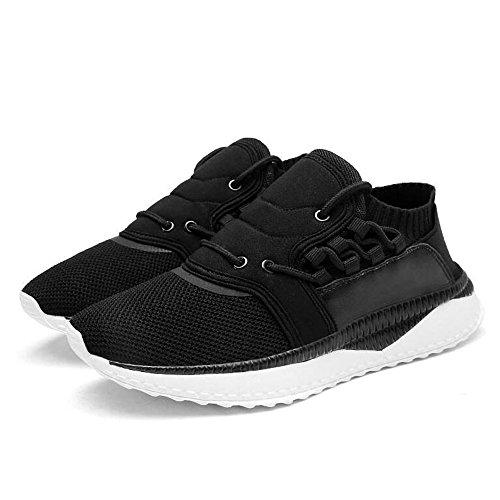 Feifei Hommes Chaussures Printemps Et Automne Loisirs Mesh Respirant Chaussures De Course 3 Couleurs (couleur: Blanc, Taille: Eu / 41 / Uk7.5-8 / Cn42) Noir