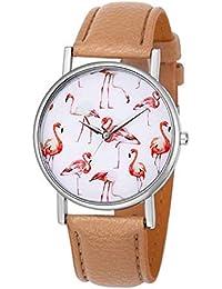 LD Mujer Reloj Cuarzo Reloj Reloj de Pulsera Flamingo kunstlederband Reloj  de Cuarzo Reloj 81229c3eebcc