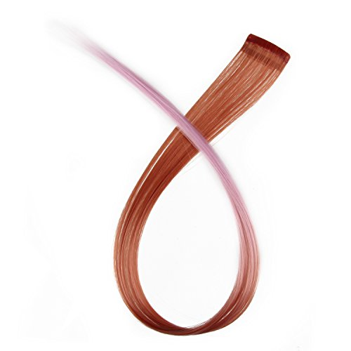 Beauty7 5 PCS Extensions de Cheveux à Clip Dégradé Fibre Synthétiques 5g Mix Couleur Cosplay DIY Coiffure 50 CM