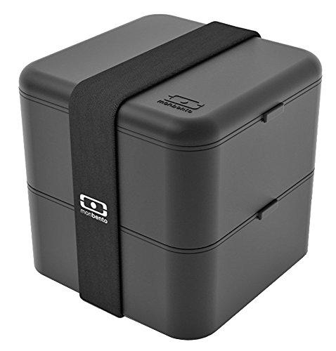 MB Square schwarz - Die quadratische Bento-Box Große Bento-box