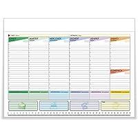 Kukk Planning Settimanale Da Tavolo - Planner Scrivania 43 x 31 cm, 52 Fogli a Strappo non Collati, Senza Data, Perpetuo