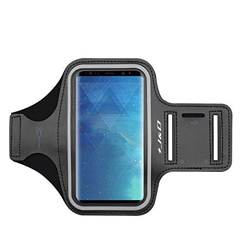 Galaxy S9 Plus Armband, J&D Sport-Armband für Samsung Galaxy S9 Plus, zusätzliche Tasche für Schlüssel, perfekte Kopfhörer-Verbindung für unterwegs - [Nichtkompatibelmit Galaxy S9] - Schwarz