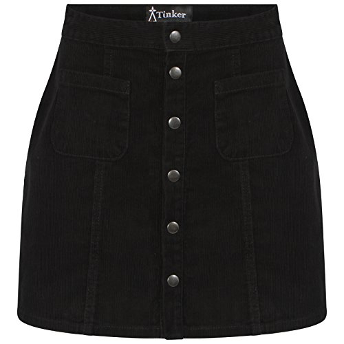 Ladies Black cord A-Line Skirt 6 to 18 (10), used for sale  Delivered anywhere in UK