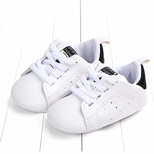 e1df1ee5d42c45 UOMOGO® Scarpine neonato Primi Passi Sneaker bambini e Ragazze Estate  Bambina Scarpe Sandalo 3 a 18 Mesi - Casual (Età: 0~6 Mesi, Nero)