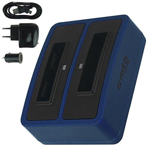 Caricabatteria doppio (usb/auto/corrente) per drift hd (1080p), hd170 (stealth), hd720 / toshiba camileo h20 ... / ricoh caplio rr10 uvm... v. lista