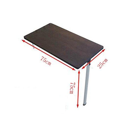 Zhuozi FUFU Wandhalterung Massivholz Esstisch Tisch Klappwand Tisch Nussbaum 5 Größen Drop-Blatt-Tabelle (größe : 74*74*25cm) (Nussbaum Wandhalterung Halterung)