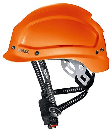 Uvex Pheos Alpine Belüfteter Schutzhelm - Bauhelm o. Bergsteigerhelm (Orange)