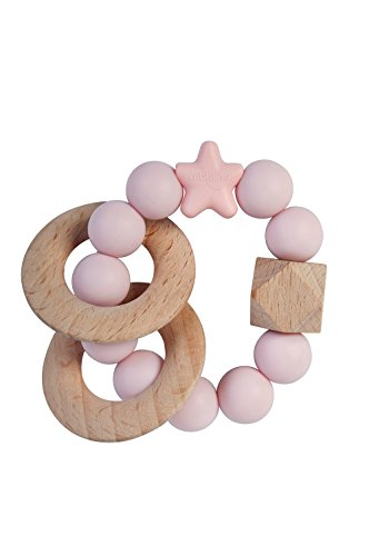 NIBBLING NATURAL WOOD RATTLE RINGS TEETHER 41a6nOi66UL