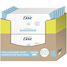 Toallitas húmedas Baby Dove hidratación profunda - Pack de 12 x 50: Total 600 toallitas