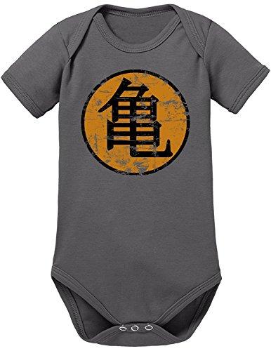 Touchlines Goku Roshi, Body para Bebés, Letra japonesa Grau (Darkgrey