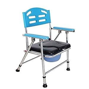GLJY Folding Kommode Stuhl, Badezimmer Anti-Rutsch-Dusche Hocker Ältere Person/Schwangere Frau/Behinderte Person Töpfchen Stuhl