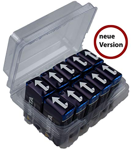VARTA 9V Block Longlife Power 4922 Batterie MN1604 6LR61 Alkaline 9 V im Big Box Pack von WNS-emg-World, 10 Stück Alkaline-batterie-box