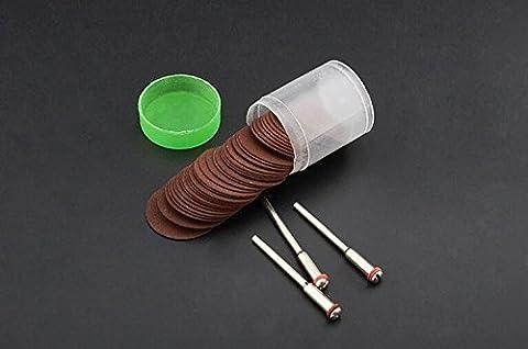 108pcs Trennscheibe Kreissägeblatt Schleifscheibe für Rotary Werkzeug Schleifmittel Schneiden Holz Metall 3,17mm Schaft, braun, 1