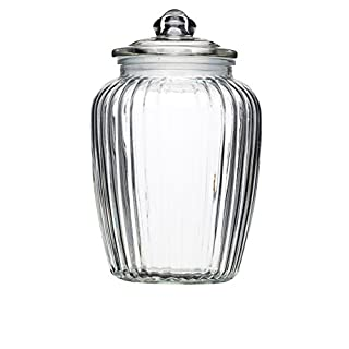 KitchenCraft Home Made Large Glass Storage Jar, 2.2 Litres - Clear