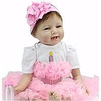 Realistic Lifelike Reborn Baby Doll 22 Soft  Vinyl Silicone Newborn Baby Doll Girl