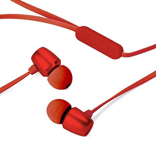 Preisvergleich Produktbild 2018 Mode Kopfhörer,  LANDFOX Neu Ohrhörer,  Neu 3.5mm F1 Tragbare Originalität Sport Musik Stereo Headset Kopfhörer (Rot)