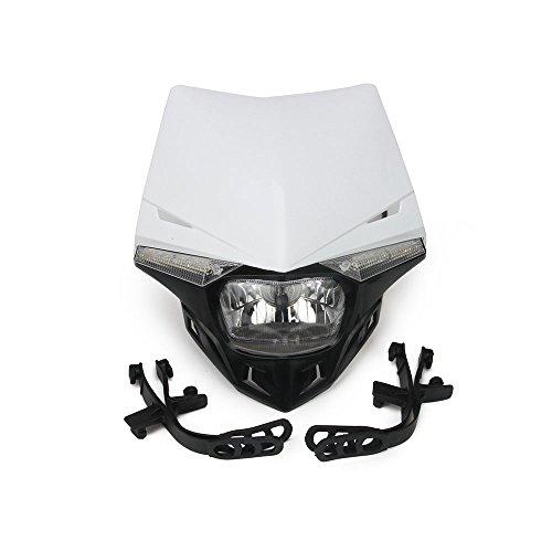 Jfgracing S212V 35W universale moto faro testa lampada a LED per K.T.M Yamaha Kawasaki Honda Dirt Pit Bike-bianco