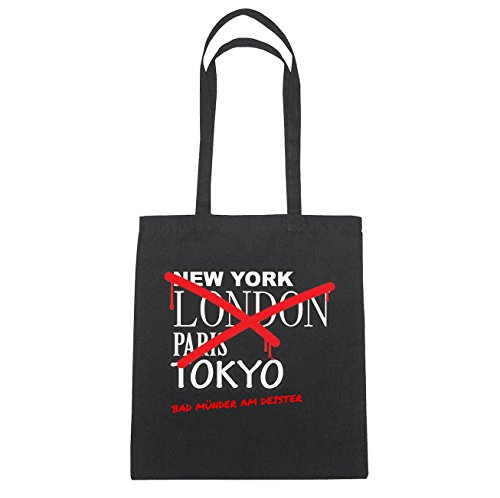 JOllify bagno bocche AM DEISTER di cotone felpato B1733 schwarz: New York, London, Paris, Tokyo schwarz: Graffiti Streetart New York