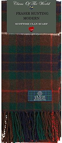I Luv LTD Fraser Hunting Modern Tartan Clan Scarf 100% Soft Lambswool Tartan Lambswool Scarf