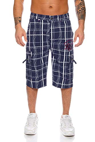 Raff&Taff Herren Bermuda Shorts Herren Sport Shorts Freizeithose Kurze Hosen Cargohose bis 4XL (2XL, Nevi (RT001))