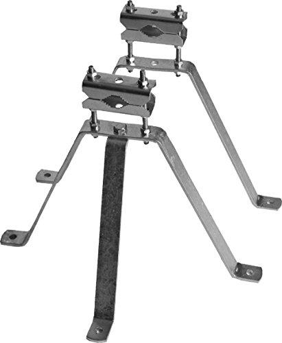 SKT MN03 Sat Mastbügel-Set Wandabstand 30 cm Mauerhalterung für Antennen-Mast feuerverzinkt Antennenmast-halterungen