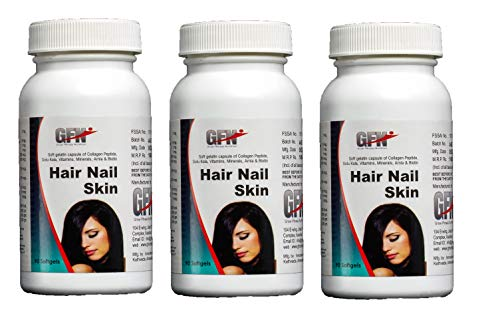 GFN Hair Skin and Nails Complete Multivitamin - 90 Softgels (Pack of 3)