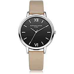 HARRYSTORE Fashion Women Casual Analog Leather Band Quartz Wrist Watch Watches Retro Design