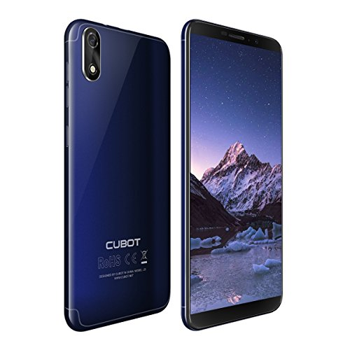 Cubot J3 Dual-SIM Smartphone (12,63 cm (5 Zoll) Full-Wide VGA TN Touch-Display,16GB interner Speicher, Android 8.1 Oreo(Go Edition) Handy Ohne Vertrag, Face ID, GPS/A-GPS) (Blau)