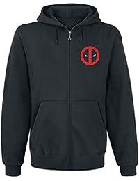 Deadpool Weapon Cross Sudadera capucha con cremallera Negro
