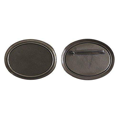 Bn Basis (Jasmin mit Brosche Basis 5 Stuecke B13-BN Groesse W7XH5.5cm schwarz Nickel)