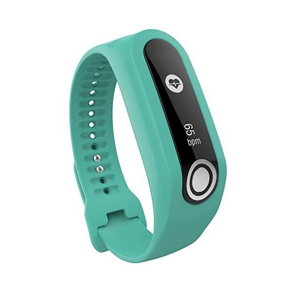 TomTom Touch Correa de reloj de silicona, correa de repuesto para TomTom Touch Cardio, rastreador de actividad deportiva… 2