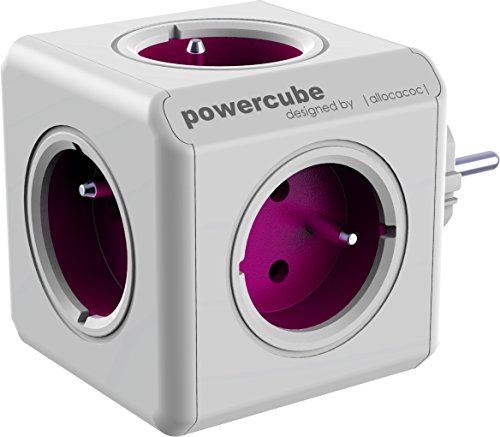 allocacoc PowerCube ReWirable Travel Plugs - Ladrón múltiple de via