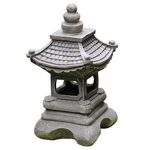 HLCUI Jardín Lámparas Solares Torre Adorno Decoración De Exterior Iluminación Esculturas Japonés Luces Zen Ornament Resistente A La Intemperie para Jardín Villa Prado Patio Decorative, Idea De Regalo